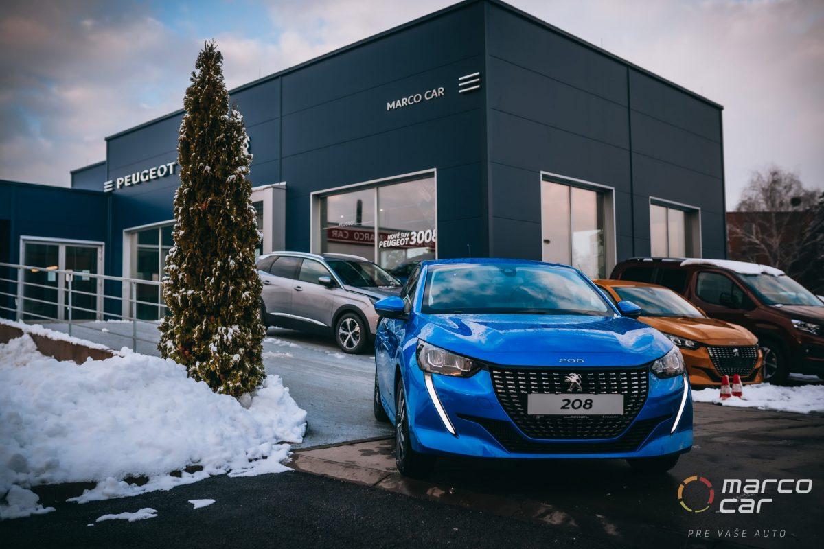 Peugeot 208 MY21 ALLURE 1.2 PureTech 100k EAT8 – modrá automat